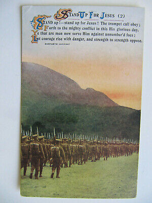 Stand Up For Jesus (2) - Vintage WW1 Bamforth Song Card Postcard