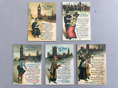 Suffragettes and Parliament Postcards