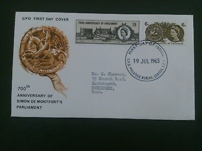 gb stamps 1965 fdc qe2 cat £28 low start
