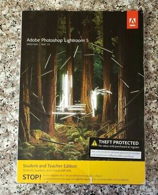 Adobe Photoshop Lightroom 5 Student and Teacher Edition CD Windows - MAC OS