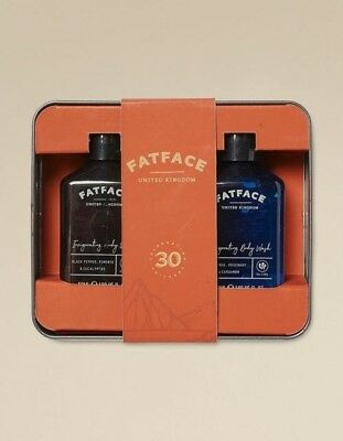 FAT FACE Man In A Can *BNWT* Invigorating Body Wash 2 x 50 ML Father's Day Gift