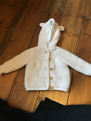 Mothercare Baby Lined Cardigan 1-3 Months Size