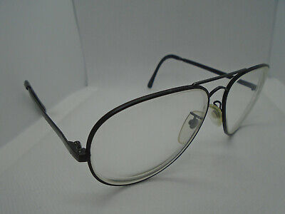 f8519be00d Cottet Vintage Eyeglasses Pilot 56-21-145 Black Metal Aviator Rx Frames  France