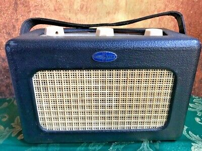 Rare Vintage Blue Valve Portable Roberts Radio R55 Early S/N: 2221 1954 50's