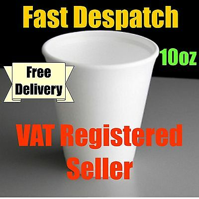 Dart 10oz Polystyrene Disposable Foam Cups Hot/Cold Drinks (120 to 2000 cups)