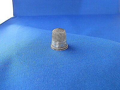 Antique Sterling Thimble Etched Scenic Water Lighthouse Sailboat Sterns Bros