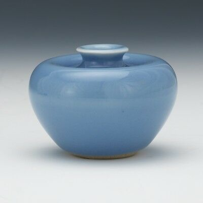 An Excellent Chinese Porcelain Monochrome Glaze Water Dropper, Marked.