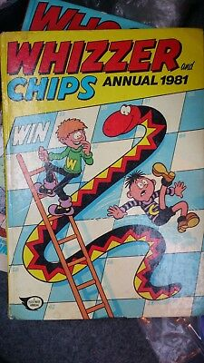 Whizzer & Chips Book Annual 1981 Vintage Collectors Comic Book