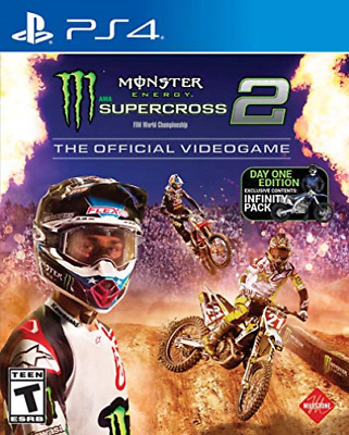 Ps4 Action-Monster Energy Supercross:official Videogame 2 (Day 1) Ps4 Nuovo