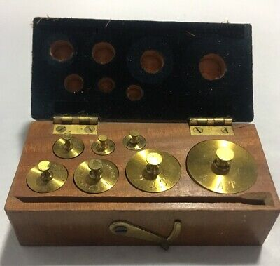 Antique Counter Balance Brass Scale Weights Mining Assaying