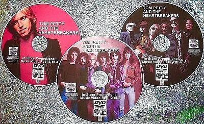 TOM PETTY and The Heartbreakers In-Store Promo 45 Music Videos 79-2017 3 DVD Set