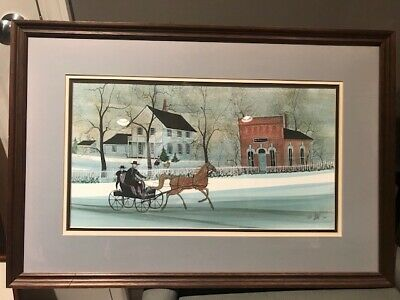"P Buckley Moss ""The Doctors Office"" RARE Signed Numbered Framed Matted 655/1000"