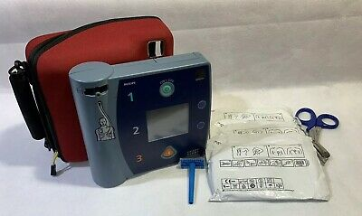 Philips FR2+ Heartstart Defib AED ECG M3860A + 3 New Pads