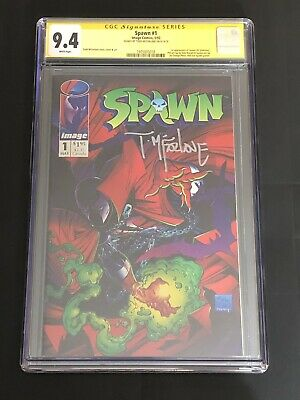 Spawn #1 CGC 9.4 Signed by Todd McFarlane! Image Comics 1992! Movie