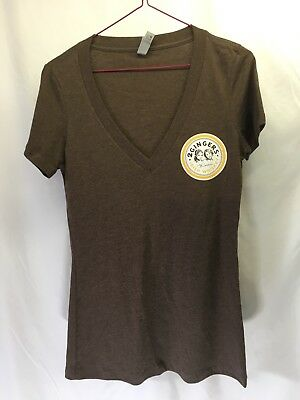 NEXT LEVEL women's t-shirt. Size Small, Brown, 2 Ginger's Irish Whiskey