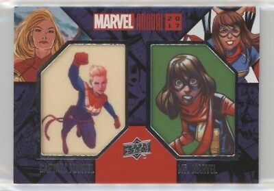 2017 UD Marvel Annual Dual Character SP Patch DCP-21 CAPTAIN MS MARVEL