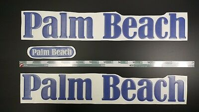 """Palm Beach Boats Emblem 22"""" + FREE FAST delivery DHL express"""