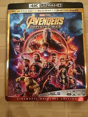 Avengers Infinity War (4k Ultra HD/Blu-ray/Digital code) with slipcover