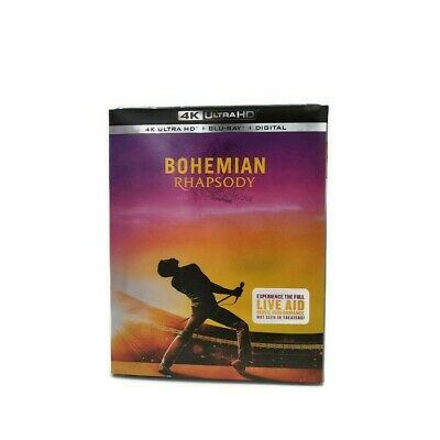 Bohemian Rhapsody (4K Ultra HD, Blu-ray + Digital) • NEW • Queen,