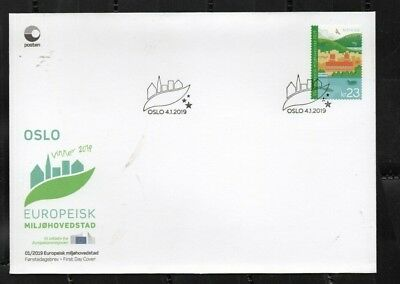 2019 NORWAY Oslo Green Capital City FDC  NK 1998