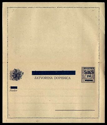 Mayfairstamps Mint Croatia 20 Surcharged Postal Stationery Letter Card Jjx_8039