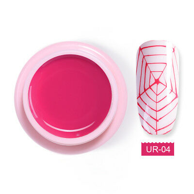 UR SUGAR 5ml Rose Pink Spider Gel Polish Elastic Drawing Soak Off UV Gel Nails