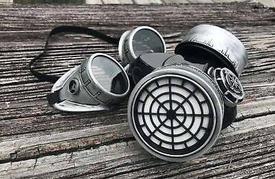 Steampunk Goggles Mask Cosplay Dust Mask Burning Man Cyber Punk Respirator