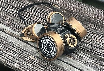 Steampunk Goggles Dust Mask Burning Man Cyber Punk Respirator Halloween Outfit