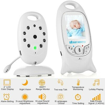 2.4GH Wireless Baby Video Monitor Safe 2-way Talk LCD Screen Night Vision Camera