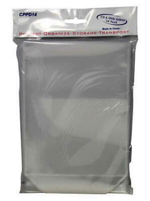 CD DVD Sleeves Bag High Quality CPP Plastic with Flap fits Paper Covers Insert