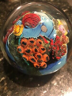 Large! JOSH SIMPSON INHABITED PLANET PAPERWEIGHT. Super nice. Est value $340-360