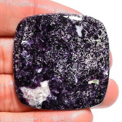 77.95 Ct. Natural Blue Lepidolite Cushion Cabochon Gemstone For Jewelry AK-9152