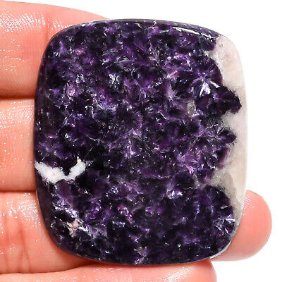 74.05 Ct. Natural Blue Lepidolite Radiant Cabochon Gemstone For Jewelry AK-9189