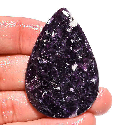 61.5 Ct Natural Blue Lepidolite Pear Cabochon Loose Gemstone For Jewelry AK-9167