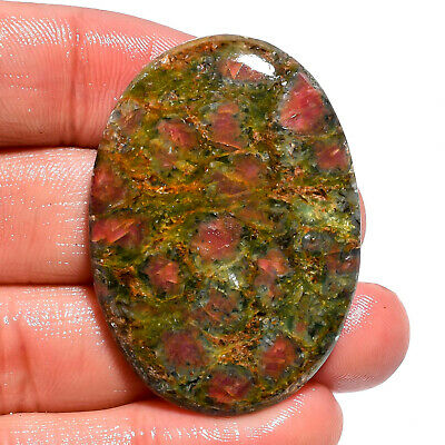 79.35 Ct. Natural Ruby Fuchsite Oval Cabochon Loose Gemstone For Jewelry AK-9349