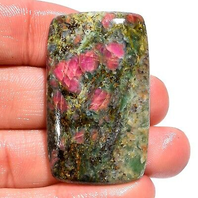 72.05 Ct. Natural Ruby Fuchsite Rectangle Cabochon Gemstone For Jewelry AK-9335