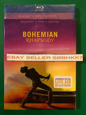 Bohemian Rhapsody Blu-Ray + DVD + Digital HD & Slipcover New Free Shipping