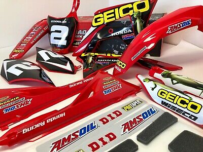 2018 Geico Honda Hrc Factory Team Graphics Kit Cr Crf All Years