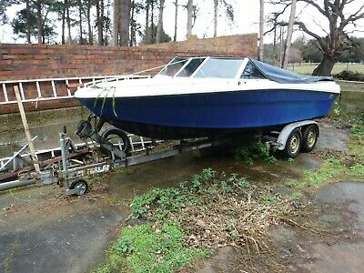 Power boat Project Mercruiser Ford 302 188hp V8 inboard on Snipe trailer.