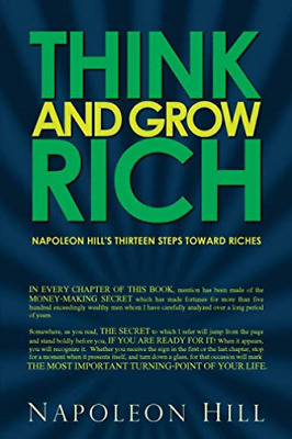 Hill Napoleon-Think & Grow Rich - Napoleon H BOOK NUOVO