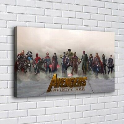 """12""""x20""""Avengers Marvel HD Canvas prints Painting Home decor Room Picture Wall"""