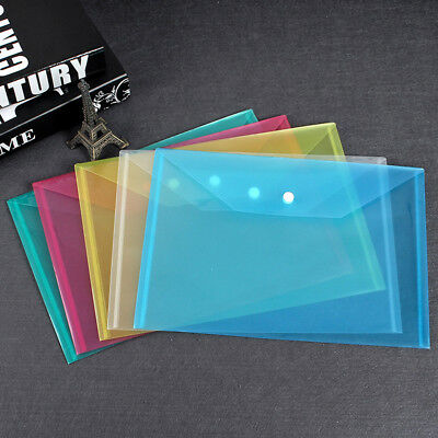 Plastic A4-Paper Expanding File Folder Pocket Document Organizer Envelope Office