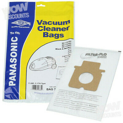 Electruepart Panasonic C-20E Type Synthetic Vacuum Dust Bags  (Pack of 5)