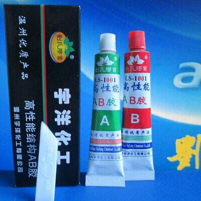 3984 A+B Adhesive Glue with Stick Spatula For Super Bond Metal Wood Repair New