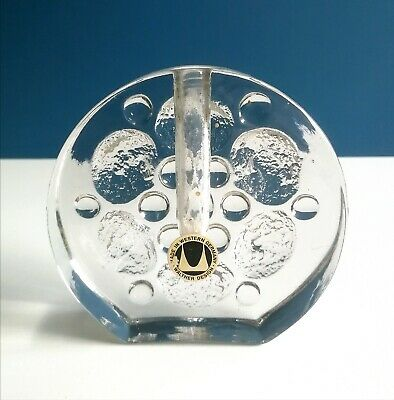 Seventies Walther-Design Glas Vase - Bubble Glass - 70er Jahre Space-Age