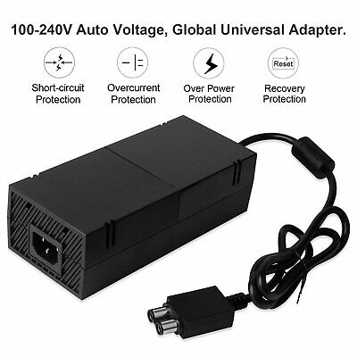 AC Adapter Charger Power Supply Cable Cord for Microsoft Xbox One Console NEW BP