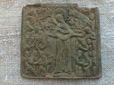 Ancient copper icon.Ancient  finds  Metal detector finds №2B 100% original