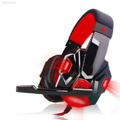 A4C7 3.5mm Gaming Headset Mic RED LED Headphones For PC PS4 Xbox one 360 Laptop,
