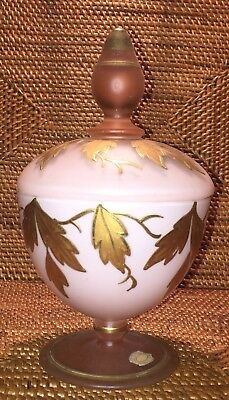 GLASS POWDER TRINKET JAR WITH LID MADE IN GERMANY US ZONE - LATE 1940s