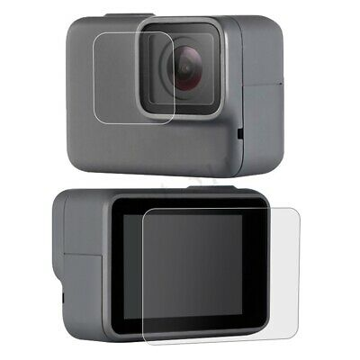 2PCS Tempered Glass Lens Screen Protector For Gopro Hero 7 White / Silver Camera